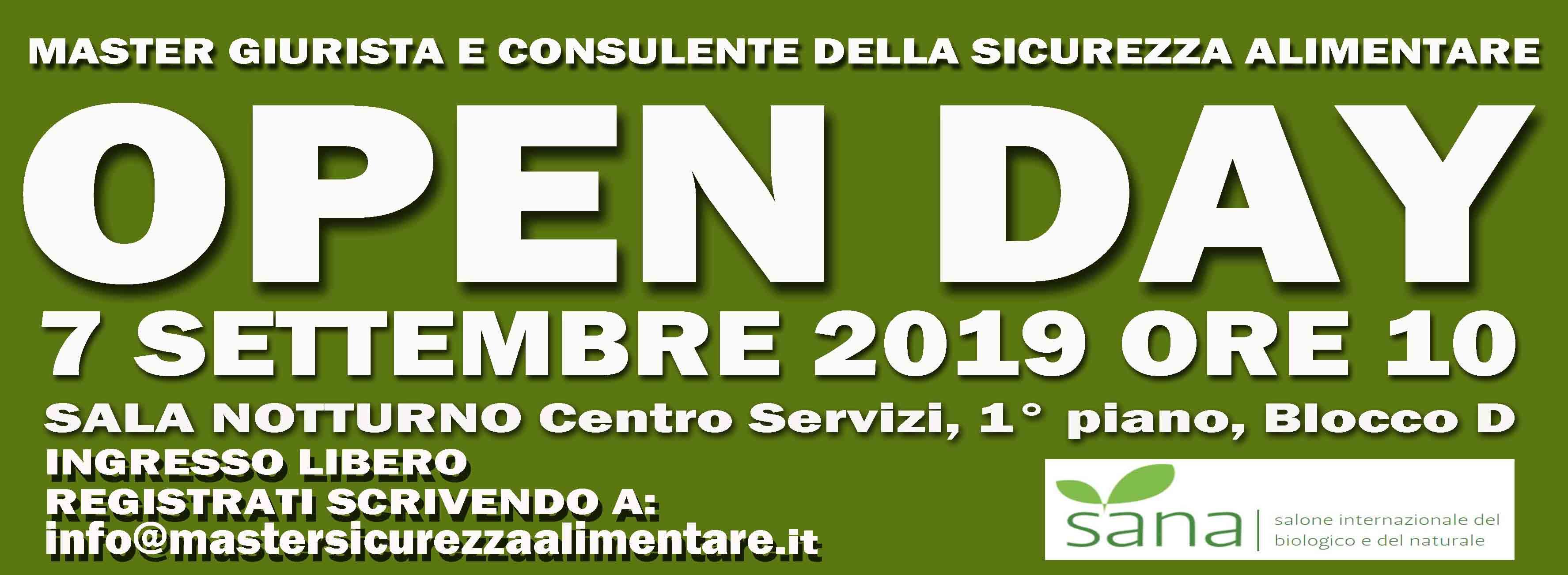 OPEN DAY - 7 SETTEMBRE 2019 - SANA