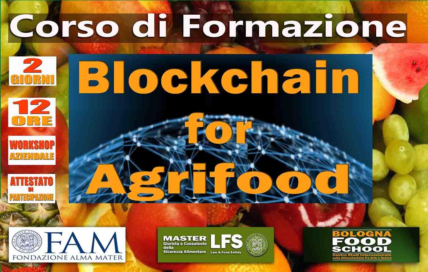 CORSO DI FORMAZIONE BLOCKCHAIN FOR AGRIFOOD  24-25 MAGGIO 2019