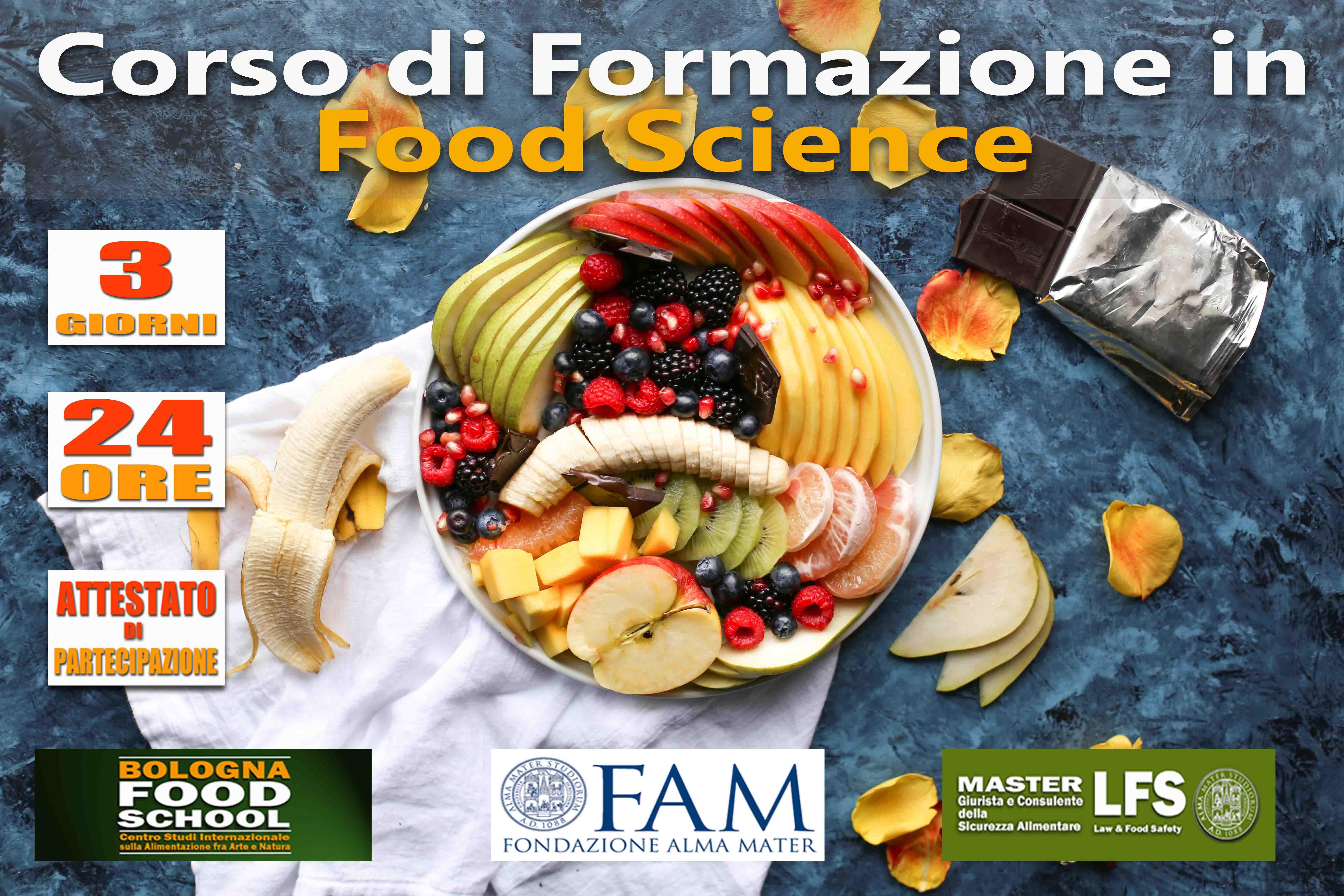 CORSO DI FORMAZIONE IN FOOD SCIENCE 14-15-16 GIUGNO 2019